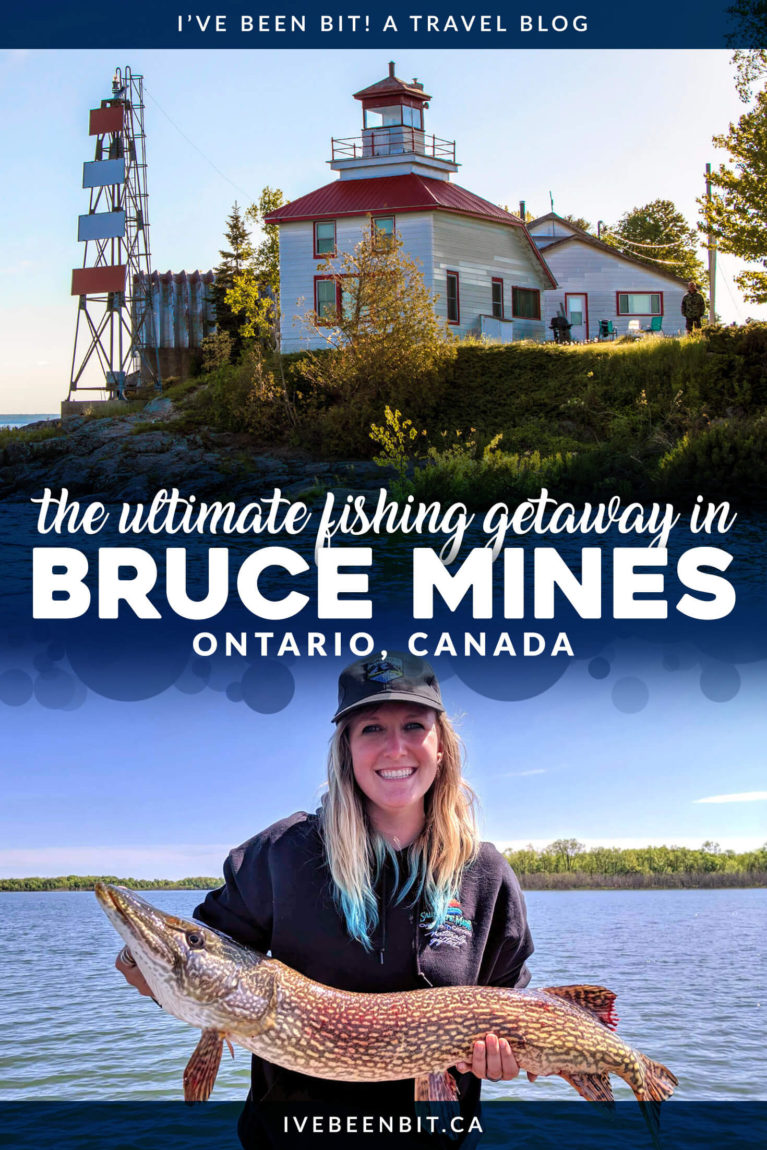 If you're looking for a great Northern Ontario fishing adventure or to just relax by the beautiful waters of Lake Huron, Bruce Mines is the place for you! Don't miss out on this hidden gem along the Trans Canada Highway. | #Travel #Canada #Ontario #Fishing #TMAC | IveBeenBit.ca