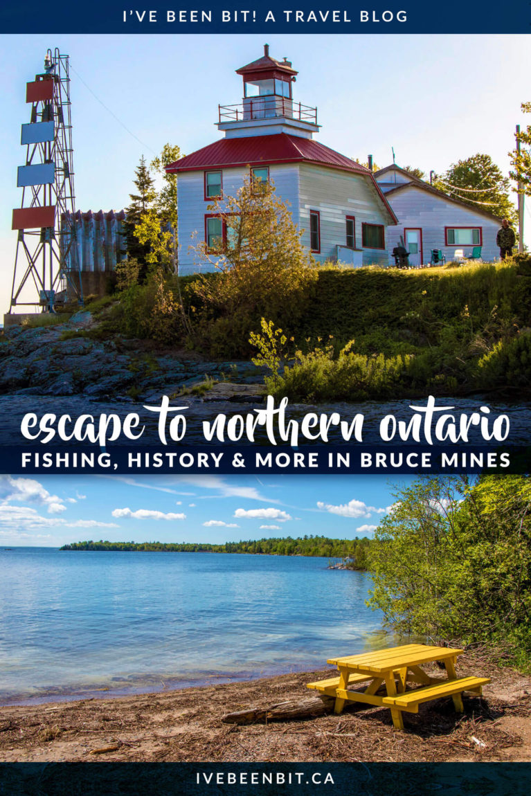 If you're looking for a quaint getaway in Northern Ontario, Bruce Mines is the perfect place to go. Close to Sault Ste Marie and along the Trans Canada Highway, this tiny town has plenty to offer. Check out all the things to do in Bruce Mines and you'll be planning your own trip to Northern Ontario! | #Travel #Canada #Ontario #NorthernOntario | IveBeenBit.ca