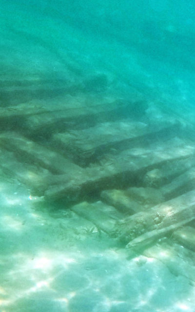 Underwater View of One of the Shipwrecks in Lake Huron :: I've Been Bit! Travel Blog