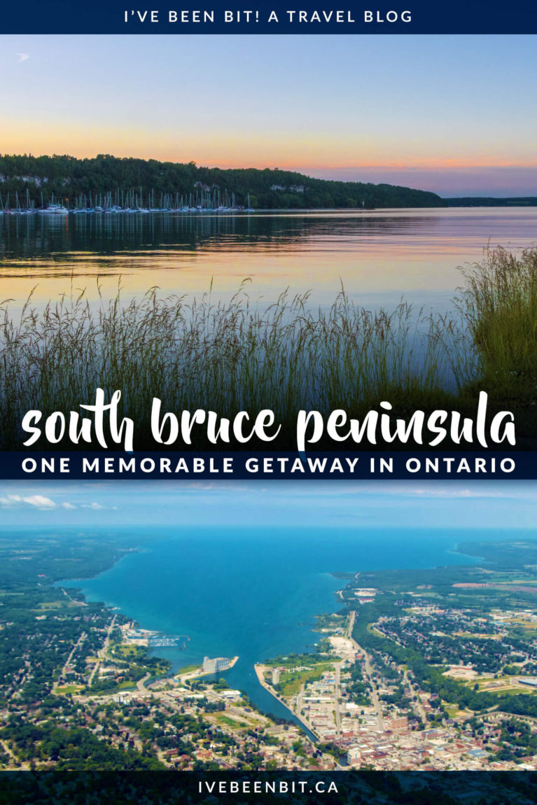 In Bruce County, Ontario, you'll find an underrated destination known as Wiarton. Enjoy the beauty along the shores of Colpoy's Bay at the base of the Bruce Peninsula. Wiarton offers visitors plenty of incredible things to do. Stunning views, calming walks and the perfect home base for exploring Bruce Peninsula National Park without the craziness of Tobermory, Wiarton should definitely be on your list of places to explore in Ontario! | #Travel #Canada #Ontario #BruceCounty | IveBeenBit.ca