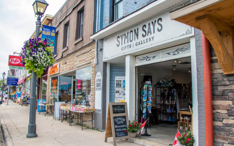 Some of the Storefronts Along the Main Street in Wiarton :: I've Been Bit! Travel Blog