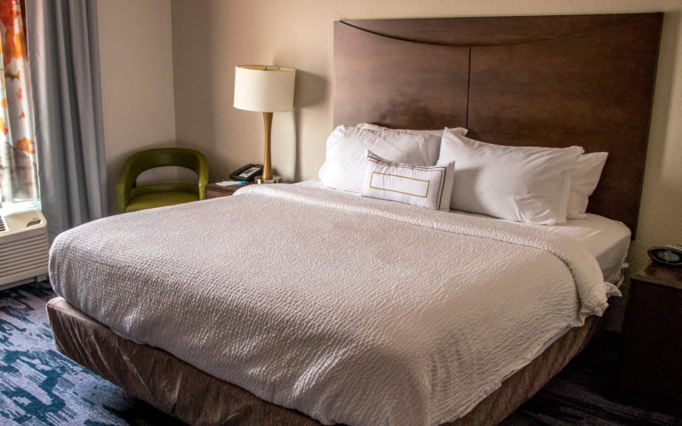 King Room at the Fairfield Inn and Suites Slippery Rock PA :: I've Been Bit! Travel Blog