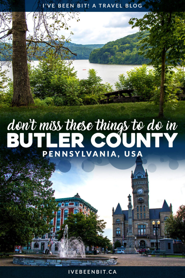 Just an hour north of Pittsburgh lies an amazing under-the-radar destination. Check out these awesome things to do in Butler County PA! Butler County Pennsylvania United States. | #Travel #USA #UnitedStates #Pennsylvania | IveBeenBit.ca