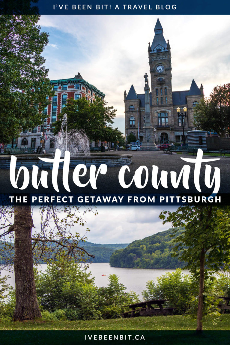 Butler County Pennsylvania has so much to offer! Just an hour north of Pittsburgh, it makes a perfect day trip or weekend getaway from the city. Check out these awesome things to do in Butler County PA! | #Travel #USA #Pennsylvania #RoadTrip | IveBeenBit.ca
