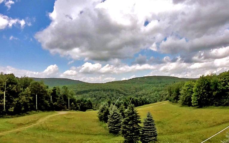 View of the Laurel Highlands from the Laurel Ridgeline Zipline Tour in Seven Springs :: I've Been Bit! Travel Blog