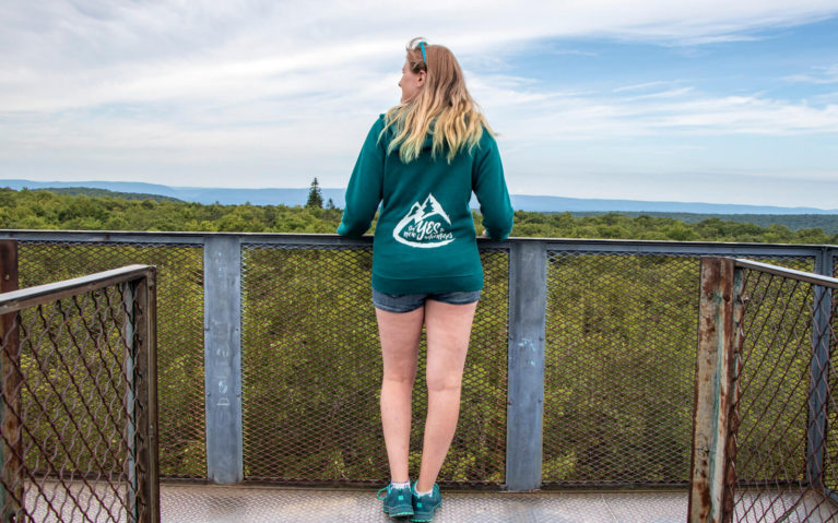 Lindsay Overlooking the Views from the Mt Davis Lookout Tower :: I've Been Bit! Travel Blog