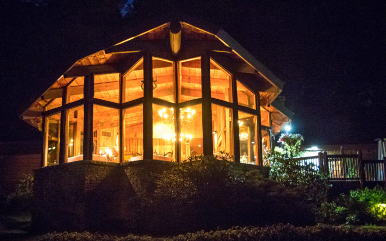 View of Helen's at Night at the Seven Springs Mountain Resort :: I've Been Bit! Travel Blog