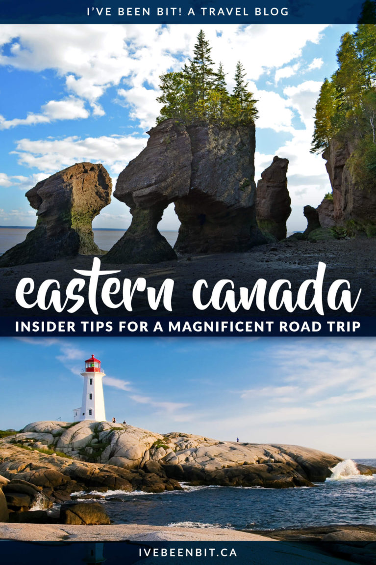 Planning a trip to Eastern Canada? Don't miss these Canadian destinations in Ontario, Quebec, New Brunswick, Nova Scotia and Prince Edward Island. Things to do in Eastern Canada. Eastern Canada Road Trip Itinerary | #Travel #Canada #EasternCanada #Maritimes | IveBeenBit.ca