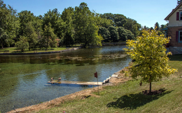 View of Children's Lake in Boiling Springs PA :: I've Been Bit! Travel Blog