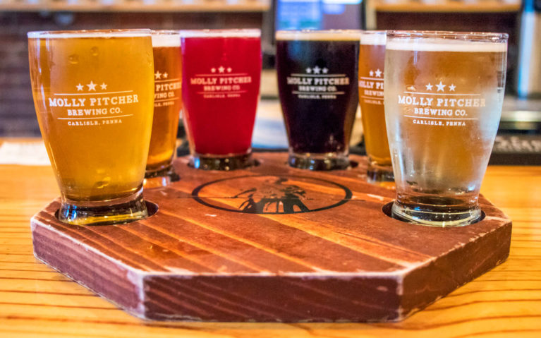 Flight of Beer from Molly Pitcher Brewing Company :: I've Been Bit! Travel Blog