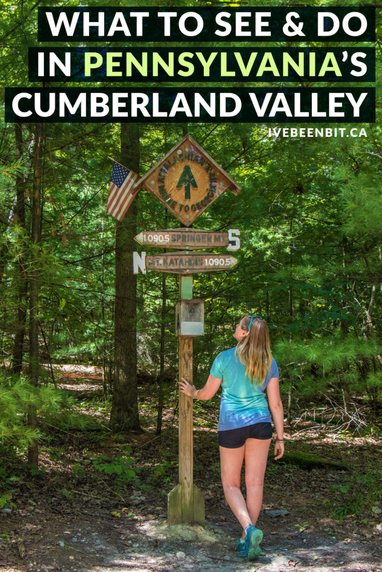 If you're planning to travel to Pennsylvania, don't miss these things to do in Carlisle PA and the Cumberland Valley! From the middle of the Appalachian Trail to great eats and beautiful accommodation, it's the perfect getaway destination. | #Travel #USA #UnitedStates #Pennsylvania #AppalachianTrail | IveBeenBit.ca