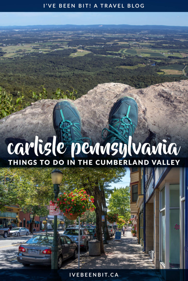 Planning a visit to Central Pennsylvania? You can't miss these things to do in Carlisle PA and the Cumberland Valley! From the middle of the Appalachian Trail to great eats and beautiful accommodation, it's the perfect getaway destination. You'll find museums, beautiful hikes, amazing accommodation and more! | #Travel #USA #UnitedStates #Pennsylvania #AppalachianTrail | IveBeenBit.ca
