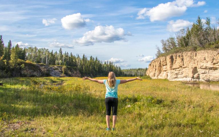 Lindsay Admiring the views of Wood Buffalo National Park :: I've Been Bit! Travel Blog
