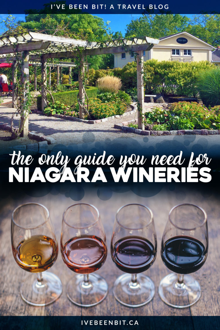 The Niagara Region is a mecca for wine, meaning it can be hard to know where to go. These are the best Niagara wineries you won't want to miss! Ultimate guide to the wineries of Niagara. Wineries in Niagara-on-the-Lake, wineries in Vineland and more wineries in Ontario. | #Travel #Canada #Ontario #Niagara #NiagaraOnTheLake #NiagaraFalls #Wine | IveBeenBit.ca