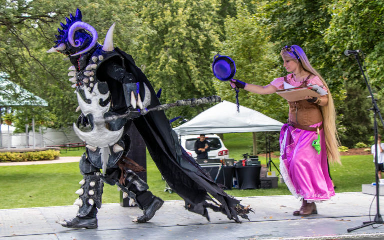 Two Costumed Characters at the Amherstburg Uncommon Festival :: I've Been Bit! Travel Blog
