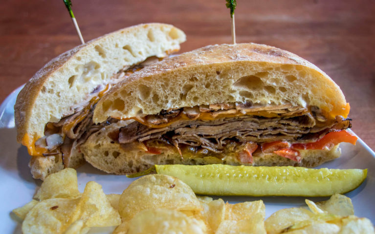 Philly Steak Ciabatta Sandwich at Lakeside Bakery Deli Cafe in Leamington Ontario :: I've Been Bit! Travel Blog