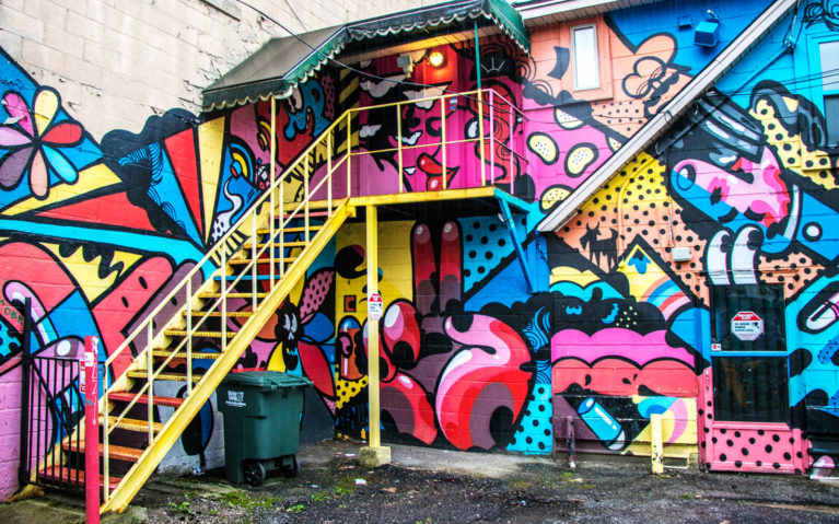 One of the Colour Murals in Windsor Ontario Canada :: I've Been Bit! Travel Blog