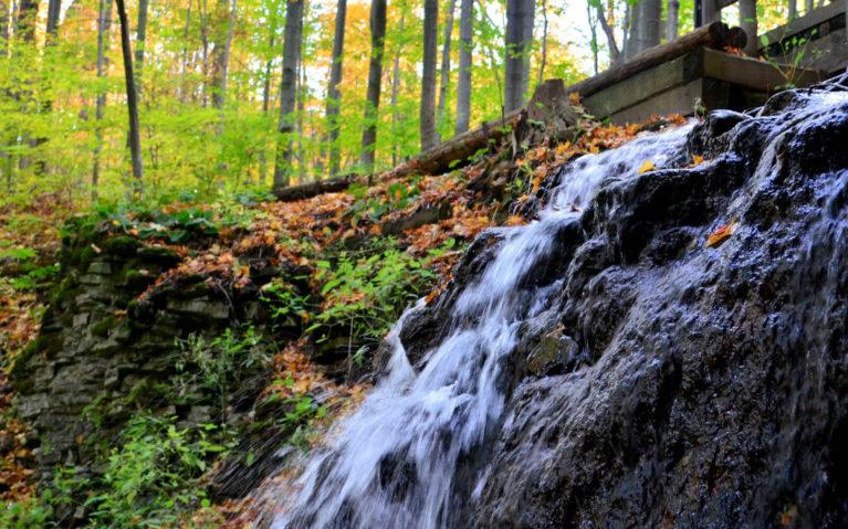 Close Up Shot of Canterbury Falls, a Waterfall in Hamilton Ontario :: I've Been Bit! Travel Blog