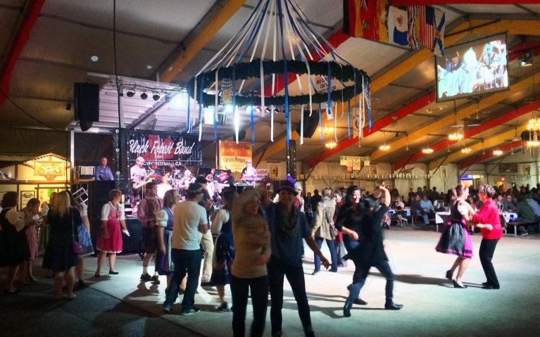 Dance floor during Oktoberfest at the Concordia Festhalle in Kitchener Ontario :: I've Been Bit! Travel Blog