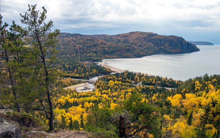 View of Lake Superior Provincial Park's Old Woman Bay from the Top of the Nokomis Trail :: I've Been Bit! Travel Blog