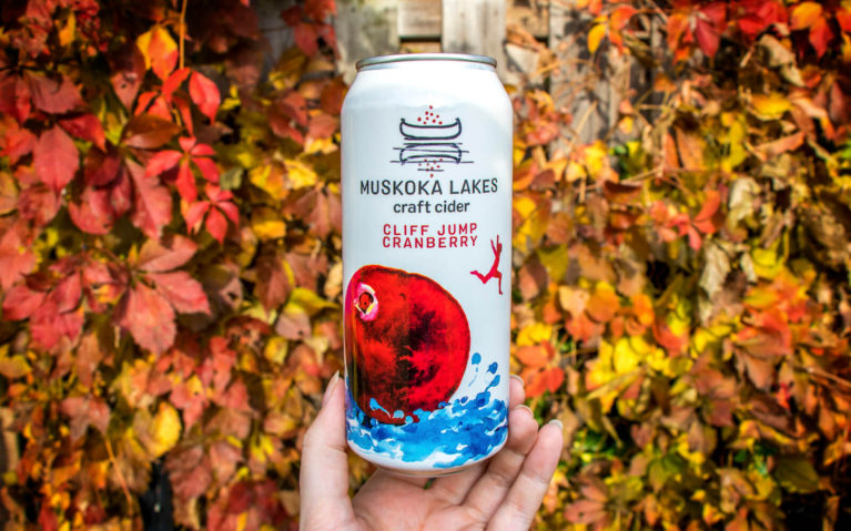 Can of Cliff Jump Cranberry Cider from Muskoka in Ontario Canada :: I've Been Bit! Travel Blog