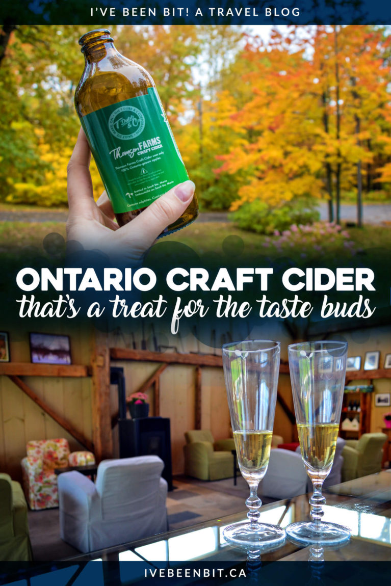 Craft beer in Ontario is really taking off, but that's not the only thing! Ontario craft cider is also booming. You don't want to miss these incredible Ontario cider establishments! | #Travel #Canada #Ontario #Cider #CraftCider | IveBeenBit.ca