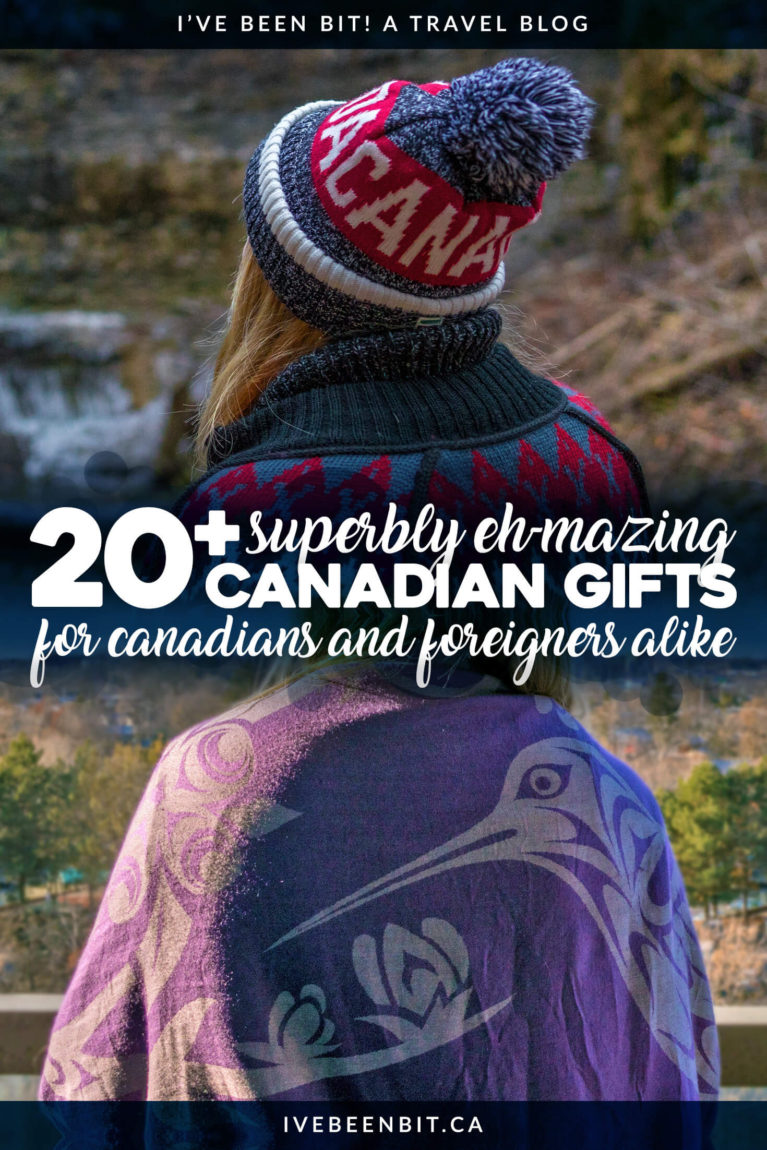 Shopping for Christmas or just looking for a gift for the Canada lover on your list? This epic list of Canadian gifts has over 20 options that are guaranteed to be a hit! Top Canadian souvenirs - these are what you want to bring home as souvenirs from Canada. | #Travel #Canada #GiftGuide #Christmas | IveBeenBit.ca