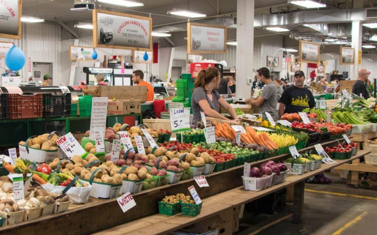 One of the Vegetable Stalls Inside the Brantford Farmers' Market :: I've Been Bit! Travel Blog