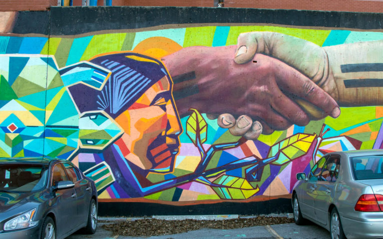 One of the Beautiful Murals in Brantford, Ontario :: I've Been Bit! Travel Blog