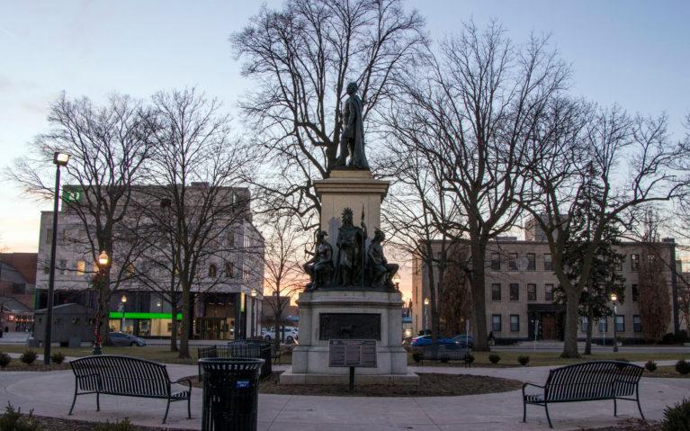 Thayendanegea (Joseph Brant) Statue in Brantford's Victoria Park :: I've Been Bit! Travel Blog