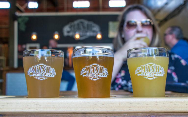 Flight of Beer at Mash Paddle Brewing Company in Brantford :: I've Been Bit! Travel Blog