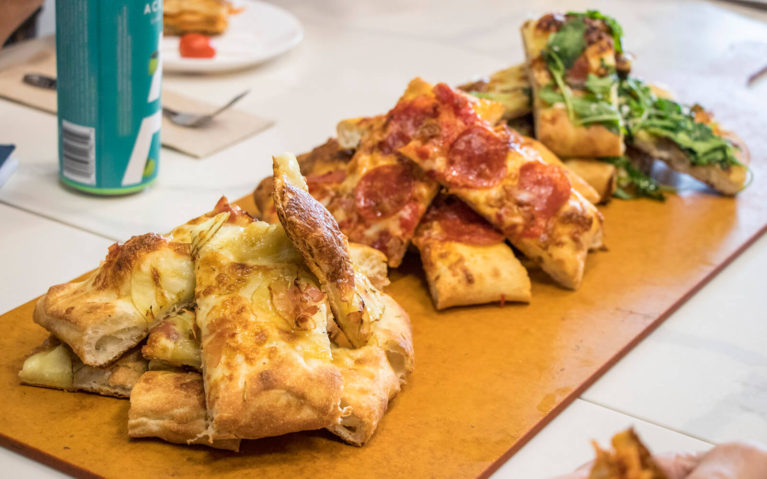 Slices of Pizza at Mercasa Little Italy Eatery & Catering :: I've Been Bit! Travel Blog