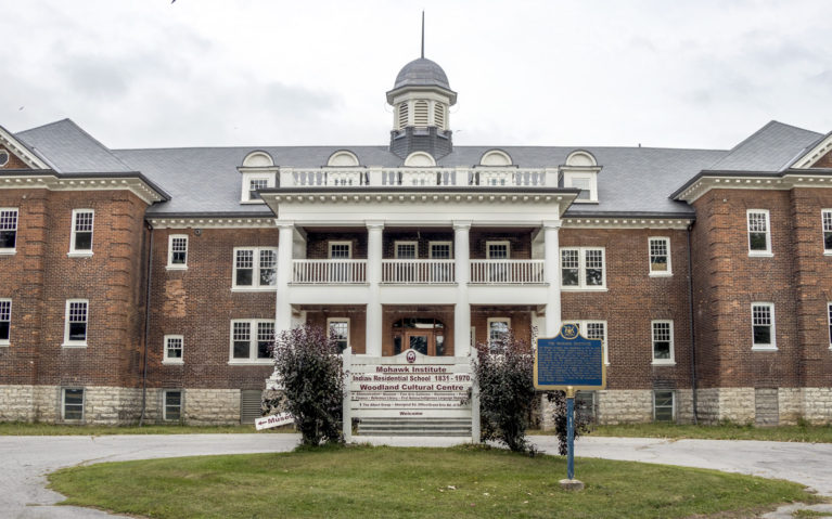 View of the Mohawk Institute Building, Canada's First Residential School Which Sits Beside the Woodland Cultural Centre in Brantford :: I've Been Bit! Travel Blog