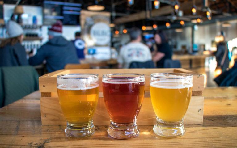Flight of Beer at Big Lick Brewing Company :: I've Been Bit! Travel Blog