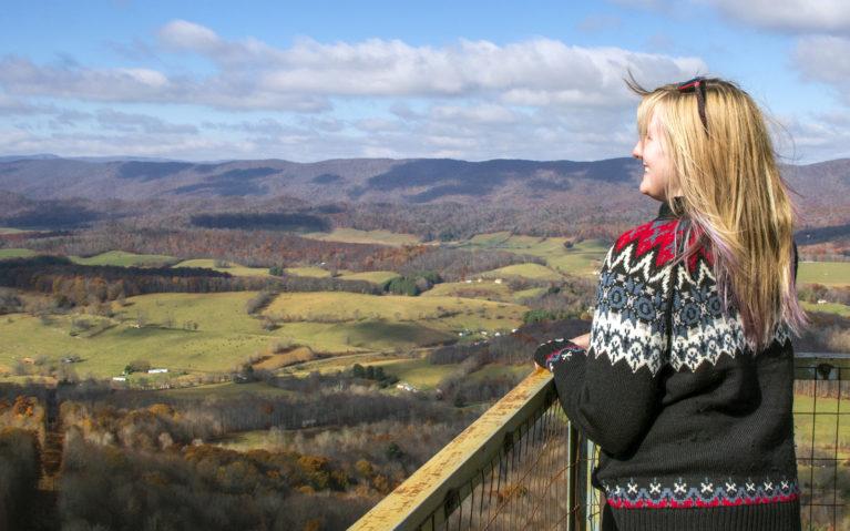 Lindsay Enjoying the Views from the Big Walker Lookout :: I've Been Bit! Travel Blog