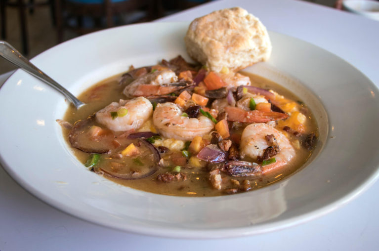 Bonnie Blue Bakery Shrimp and Grits, One of the Many Delicious Eats on a Virginia Road Trip :: I've Been Bit! Travel Blog