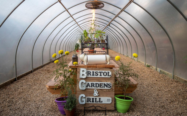 Inside the Greenhouse Seating Area of the Bristol Gardens and Grill :: I've Been Bit! Travel Blog