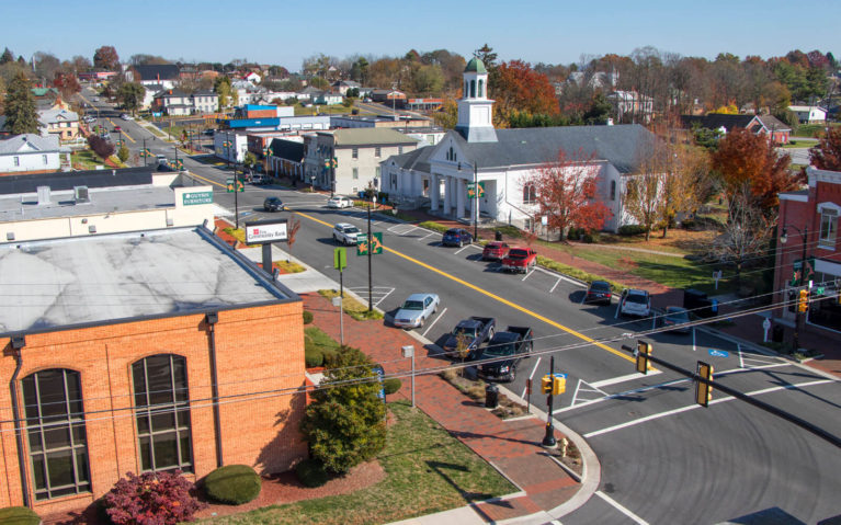 Views of Downtown Wytheville From the Rooftop of The Bolling Wilson Hotel :: I've Been Bit! Travel Blog