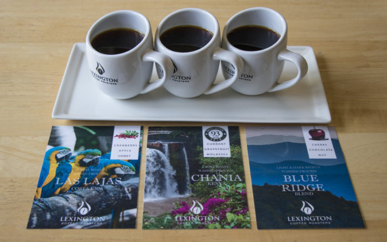 Flight of Coffee at Lexington Coffee Roasters :: I've Been Bit! Travel Blog