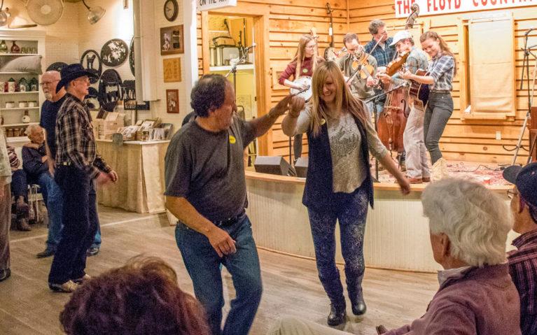 Lindsay Dancing During the Friday Night Jamboree :: I've Been Bit! Travel Blog