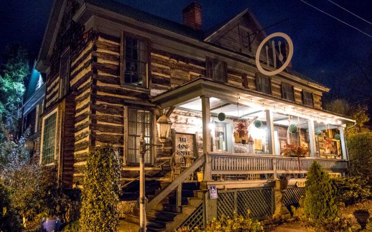 Outside of the Log House 1776 Restaurant in Wytheville :: I've Been Bit! Travel Blog