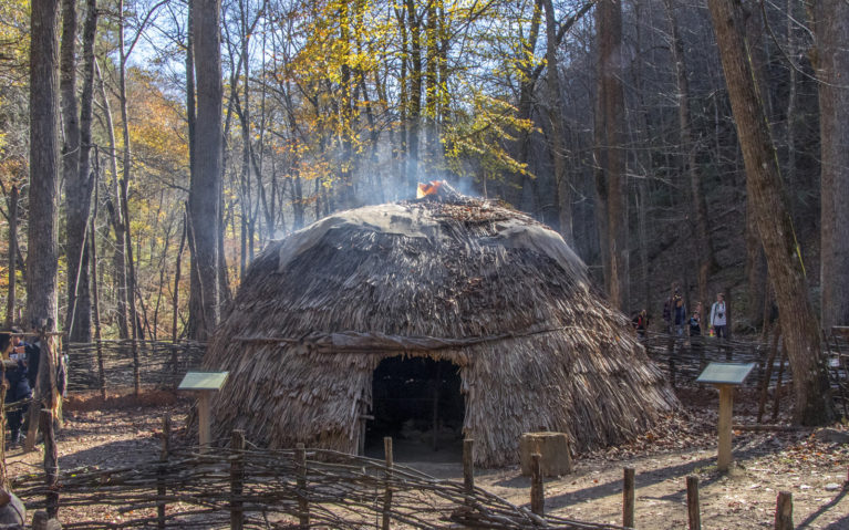 One of the Buildings (Ati) Inside the Monacan Village :: I've Been Bit! Travel Blog