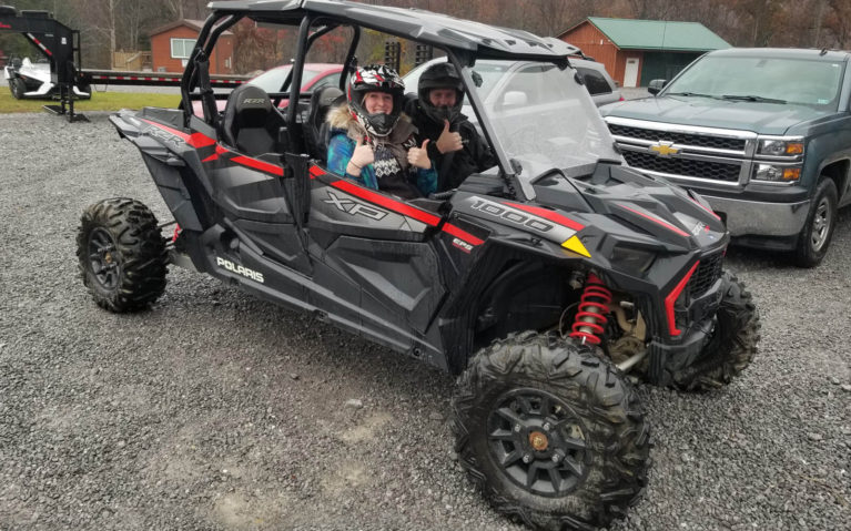 Lindsay Giving the Thumbs Up in a Side By Side with Trailhead ATV :: I've Been Bit! Travel Blog