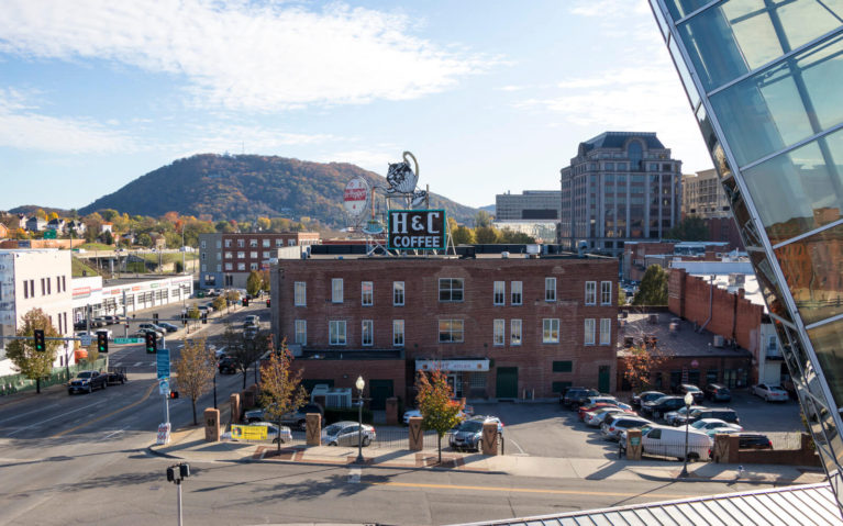 View of Roanoke from the 3rd Floor of the Taubman Museum of Art :: I've Been Bit! Travel Blog