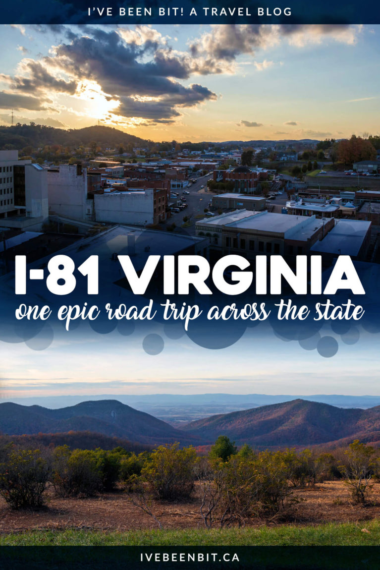 With beautiful vistas, quaint towns, incredible eats & more, an Interstate 81 Virginia Road Trip is one adventure you'll never forget! I-81 Virginia Road Trip itinerary. Things to do on a road trip in Virginia with stops in Wytheville, Roanoke, Harrisonburg and more! | #Travel #USA #Virginia #RoadTrip | IveBeenBit.ca