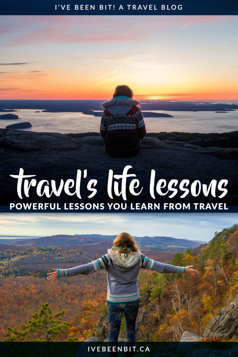 Travel teaches you more than any book or classroom can. Discover the lessons travel taught me throughout my 20s and what you can learn from travel. | #Travel #LifeLessons #Learning | IveBeenBit.ca