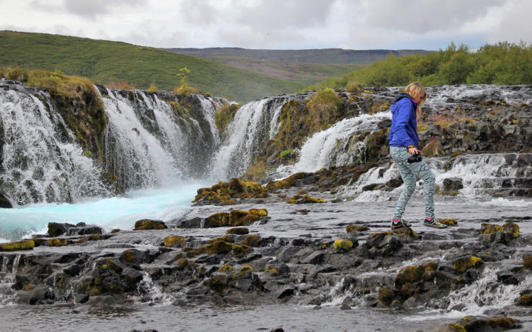 Lindsay Walking Along the Rocks in Iceland :: I've Been Bit! Travel Blog