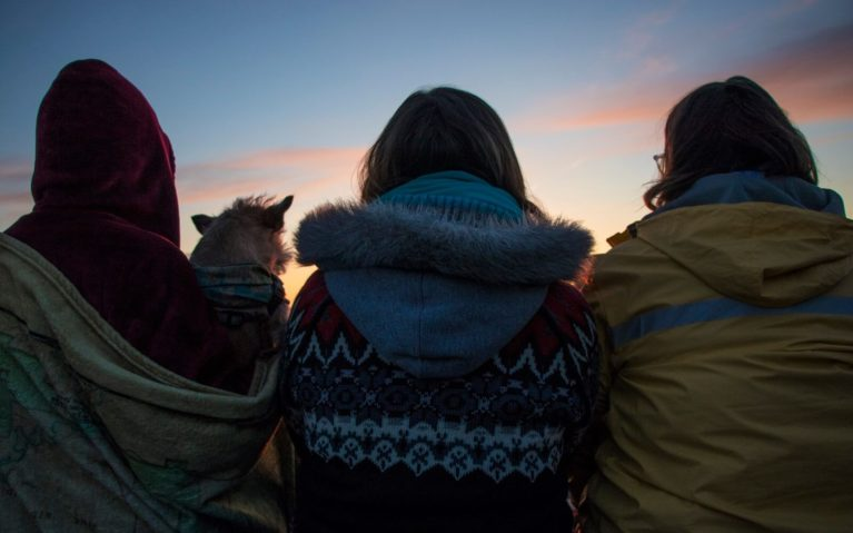 Silhouettes of Three Ladies Watching the Sunrise :: I've Been Bit! Travel Blog