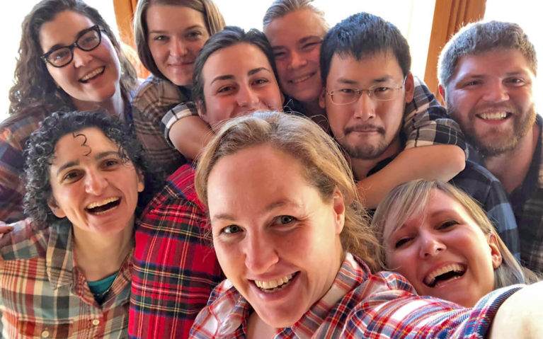 The Vermont Crew Sporting Plaid :: I've Been Bit! Travel Blog