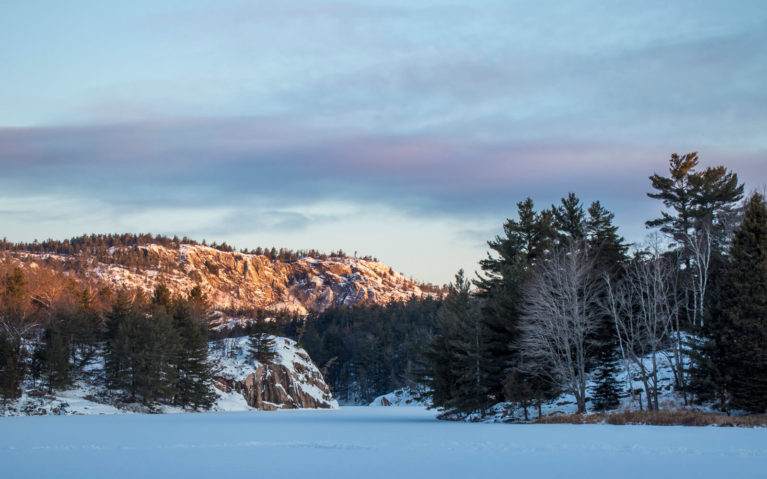 La Cloche Mountains in Killarney Provincial Park in Winter at Sunrise :: I've Been Bit! Travel Blog